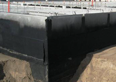Waterproofing The New High End Retail And Residential 38 Acre Site In Minneapolis Was A Mive Undertaking Wetsuit Membrane Chosen For It S Ease